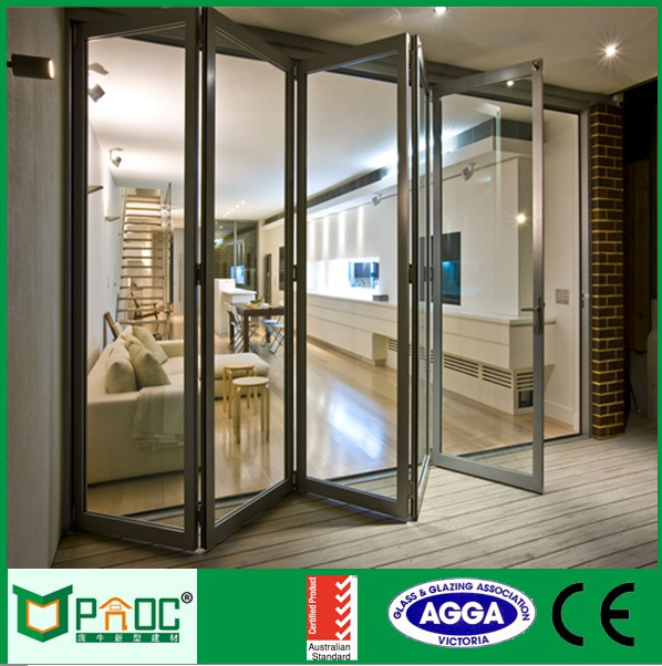 China Inexpensive Accordion Doornovel Design Bi Fold Door Made By