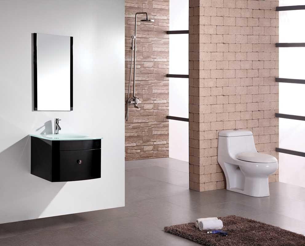 China modern mdf bathroom furniture with glass basin and mirror china bathroom vanity bathroom cabinet