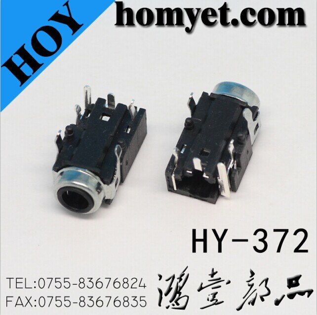 [Hot Item] 3 5mm 6pin DIP Type AV Jack/Audio Jack with Two Location Pin  (HY-372)