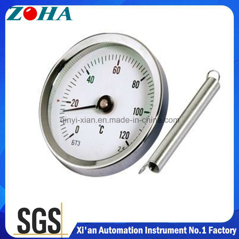 Directly Mounting or Spring Mounting Pipe Thermometer