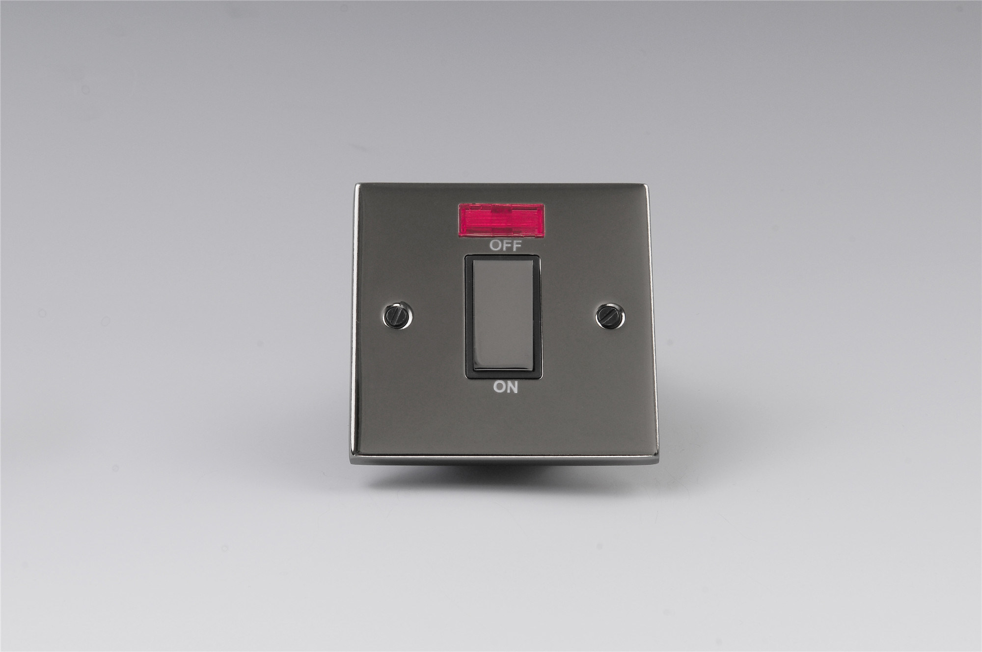 China UK Model 45A 1 Gang Double Pole Switch with Neon - China ...