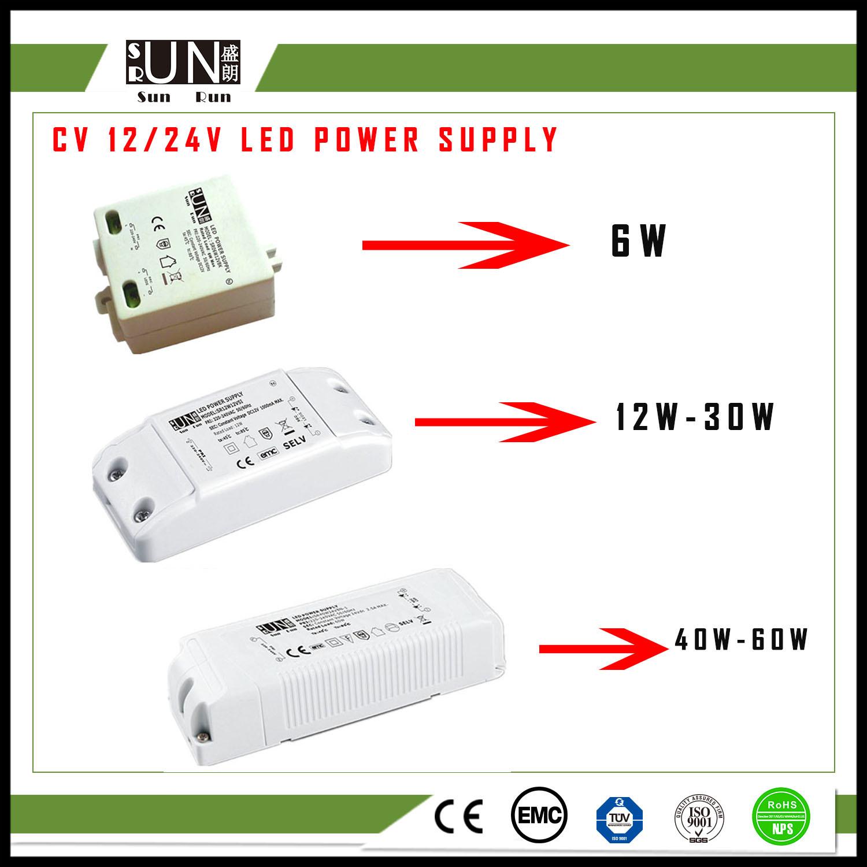 China Ce 6w 12w 18w 30w 60w High Pf Cv 12v 24v Led Adapter Power Supply Adaptor 6a