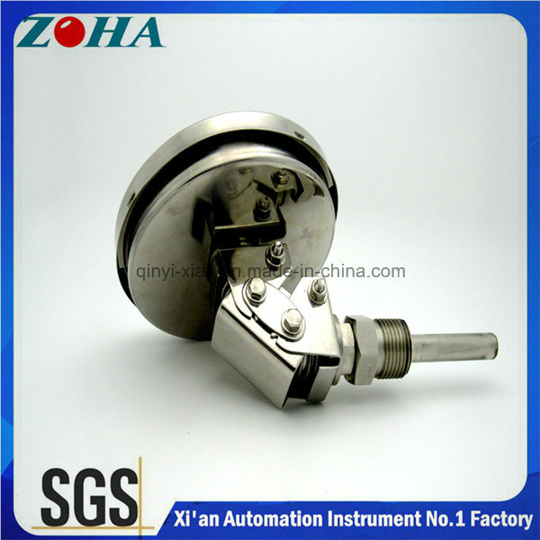 Good Construction Universal Type Ss Bi-Metal Thermometer