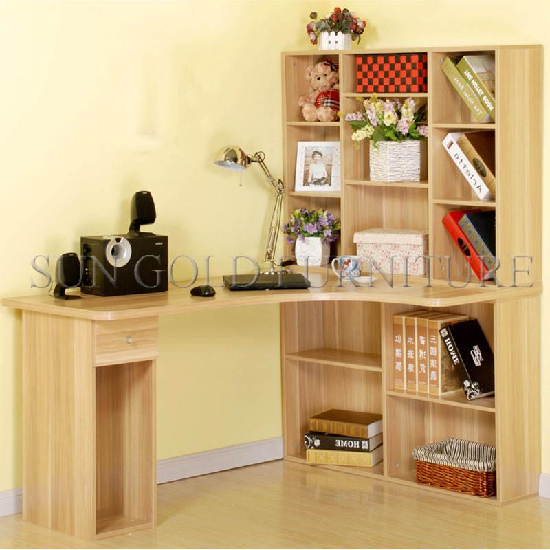 Home Furniture Computer Desk Kids Study Table With Bookshelf Sz Cdt037