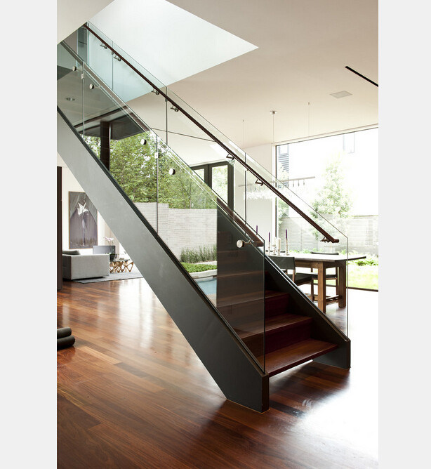 China Indoor Glass Railing Stainless Steel Straight ...
