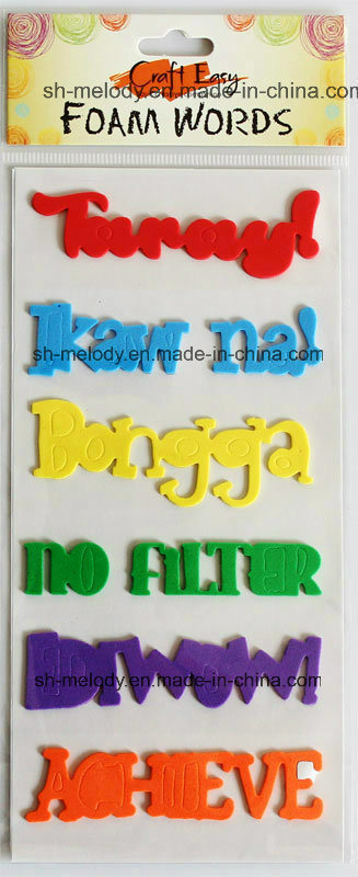 Multicolor Foam Words Stickers for Scrapbooking / Handmade Crafts
