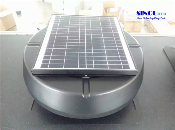 China 20W Solar Powered 14inch Roof Air Exhaust Vent for Greenhouse