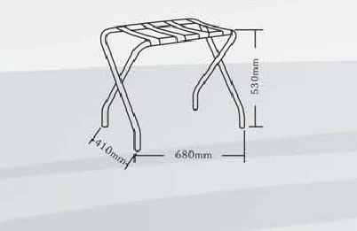 Strong Metal Frame Foldable Baggage Carrier Luggage Rack