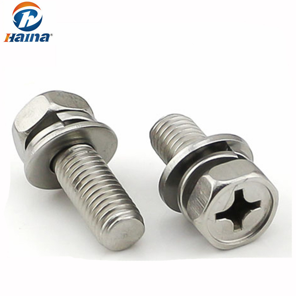 Bolt And Washer >> Hot Item Combined Bolt Phillips Hex Head Bolt With Nut And Washer