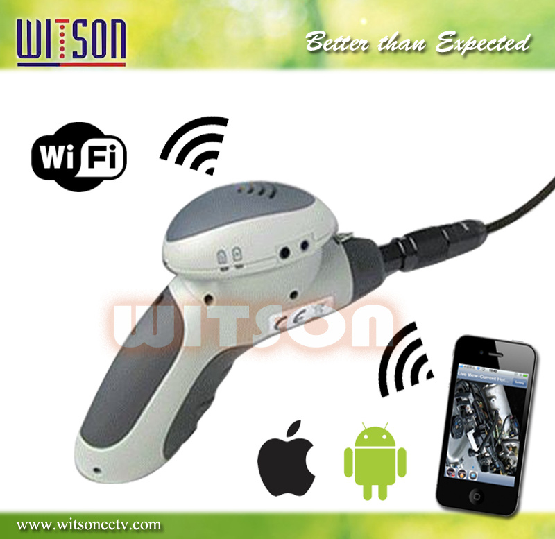 Witson Handheld Snake Scope Camera Waterproof Endoscope WiFi Connect on iPhone iPad Android (W3-CMP3813WX)