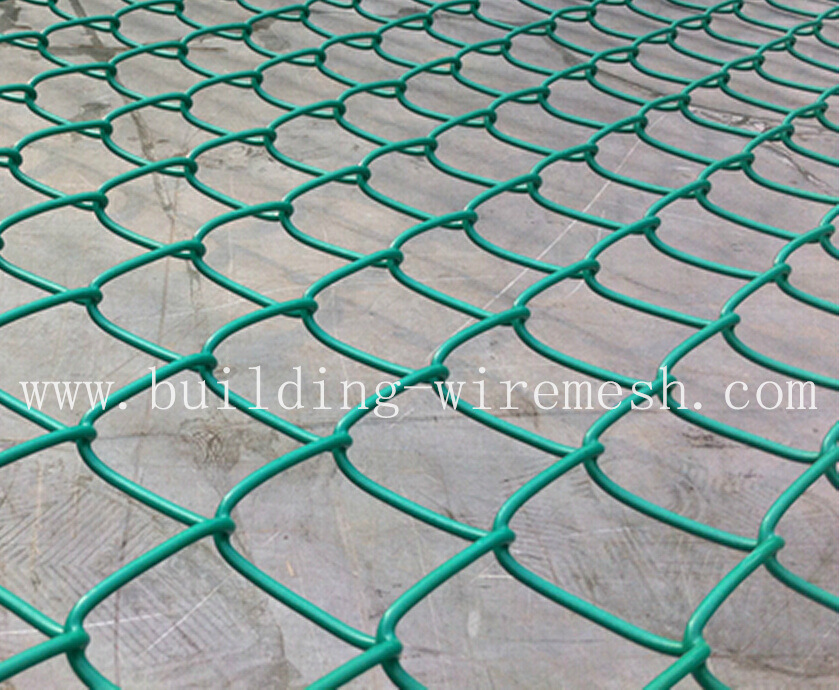 China Galvanized Chain Link Fence (diamond wire mesh) , PVC Coated ...