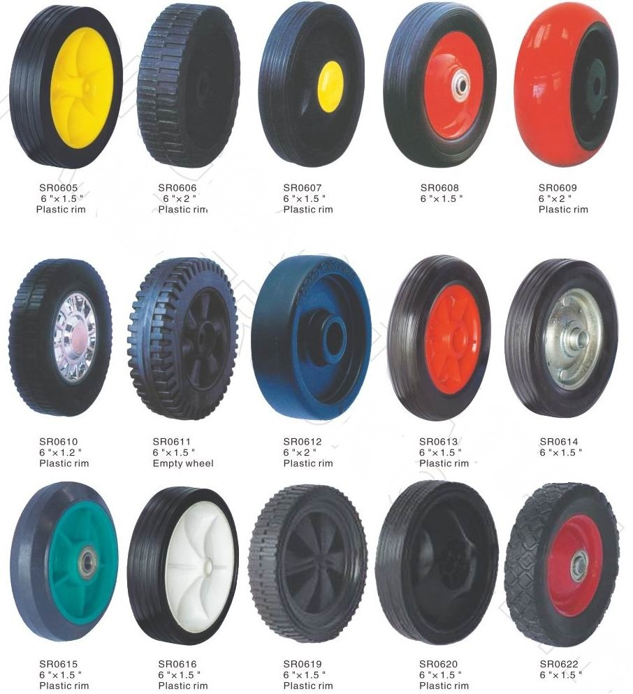 Solid Wheel, Flat Free Rubber Wheel, Industrial Wheel, Professional Factory in China