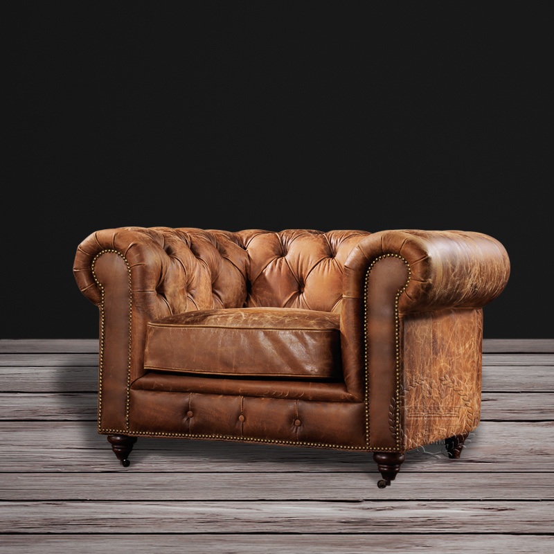 [Hot Item] Classic French Living Room Tufted Chesterfield Sofa