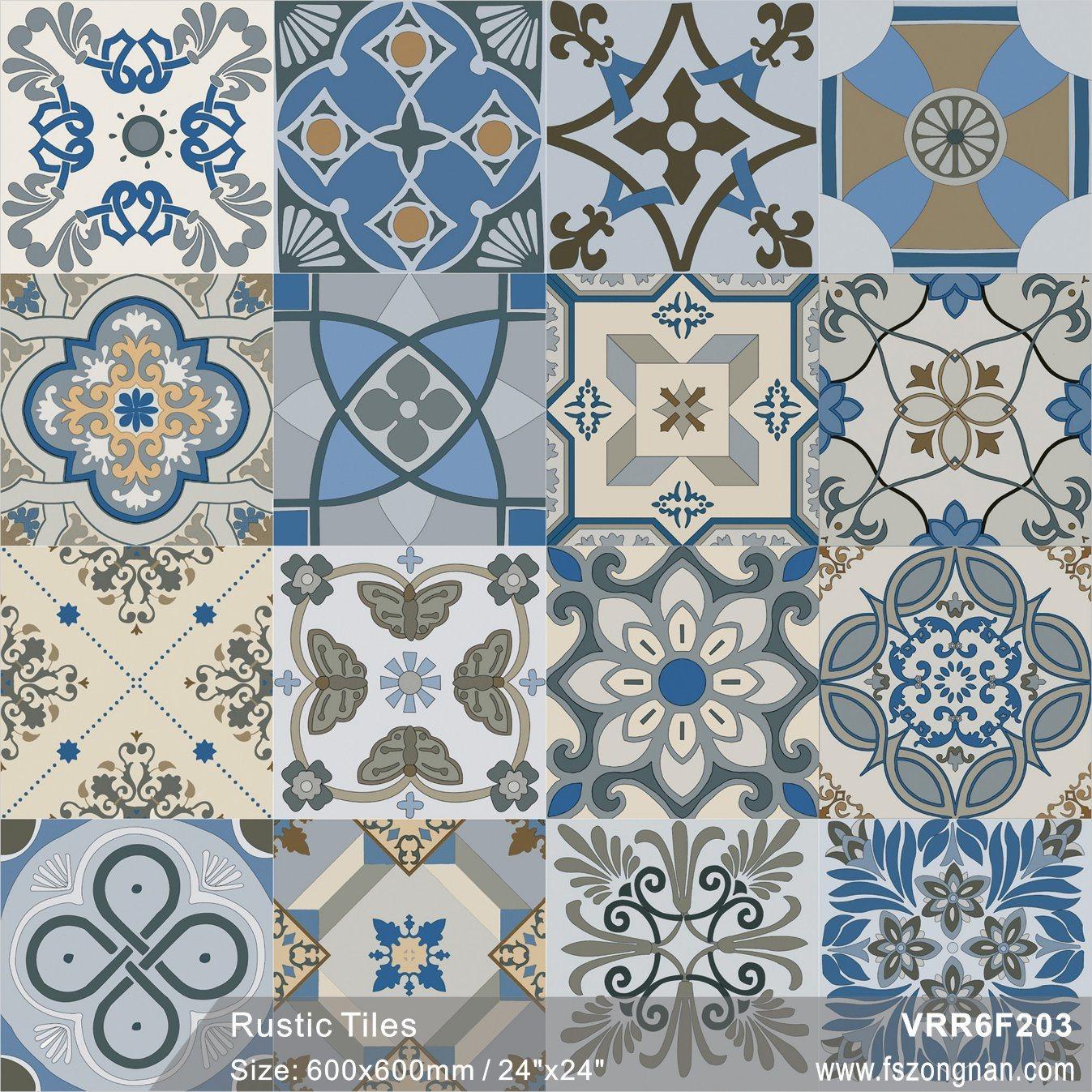 China Building Material Retro Tiles Pattern Rustic Porcelain Tile ...