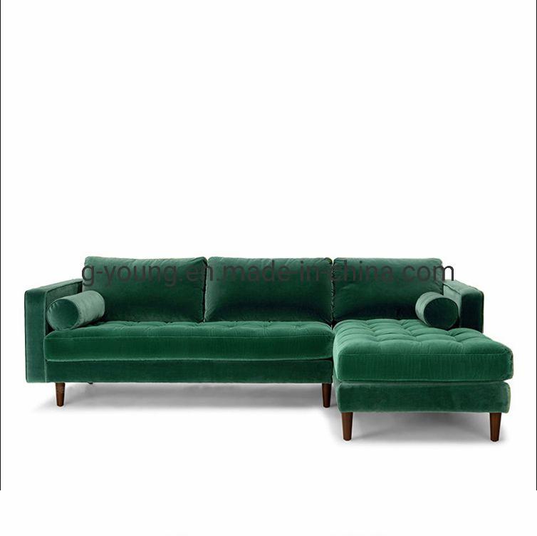 Green Modern Fabric Velvet Sofa