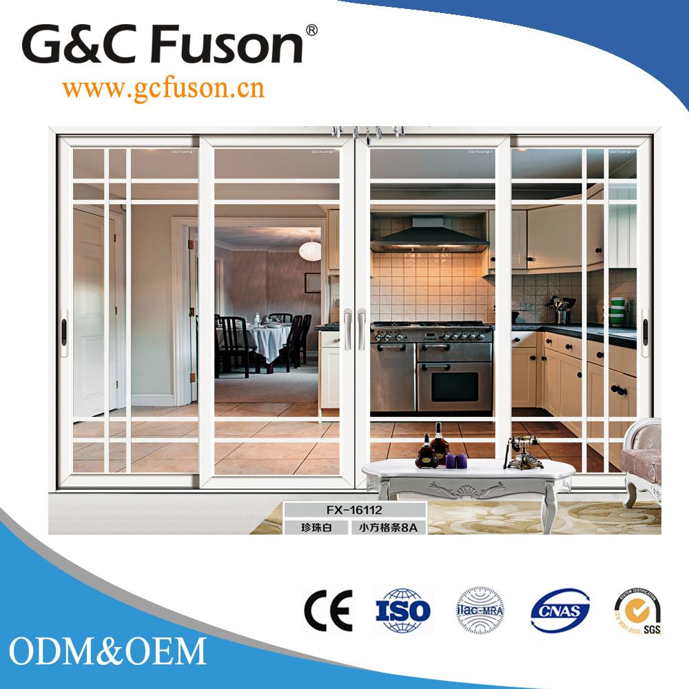 China Energy Saving Customized Size Aluminum Alloy Sliding Doors
