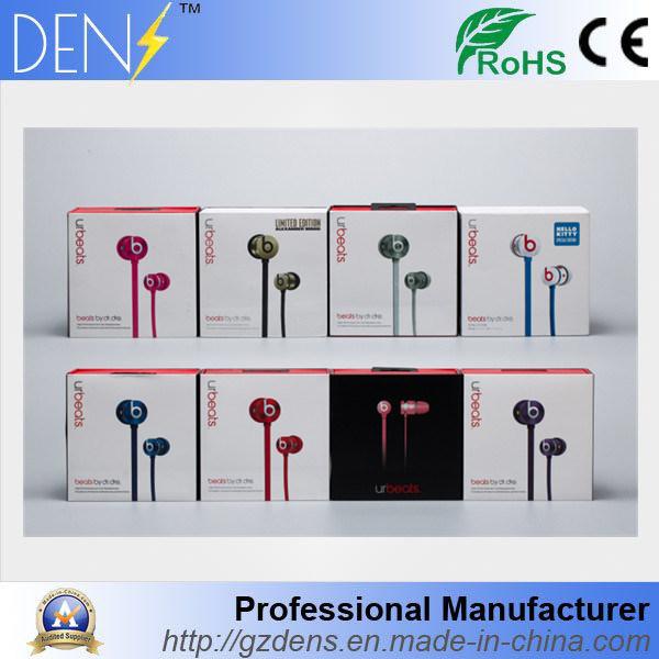 China Hot in Ear Sport Wired Headphone Urbeats Stereo Earphone Beats on