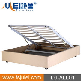 China Modern Popular Steel Wooden Lift Up Storage Bed Base Dj