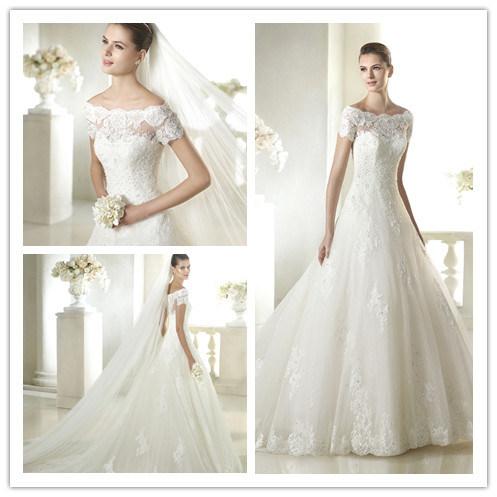 Lace Beads Wedding Dress
