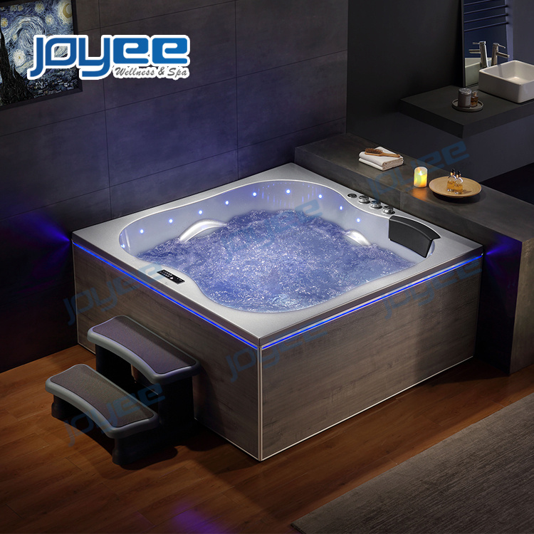 China New Material Serc Skirt Massage Whirlpool Bathroom Jacuzzi Bathtub Indoor Spa Bath For Two 3 Person Photos Pictures Made In China Com