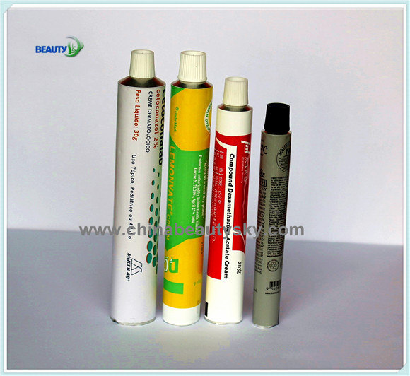 Pharmaceutical Packaging Cosmetic Skin Care Hand Cream Labeling Empty Aluminum Collapsible Tube