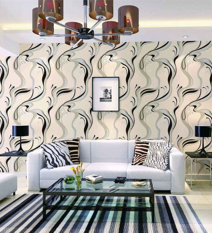 Hot Item Vinyl Wall Coating New Design 3d Modern Wallpaper From Factory