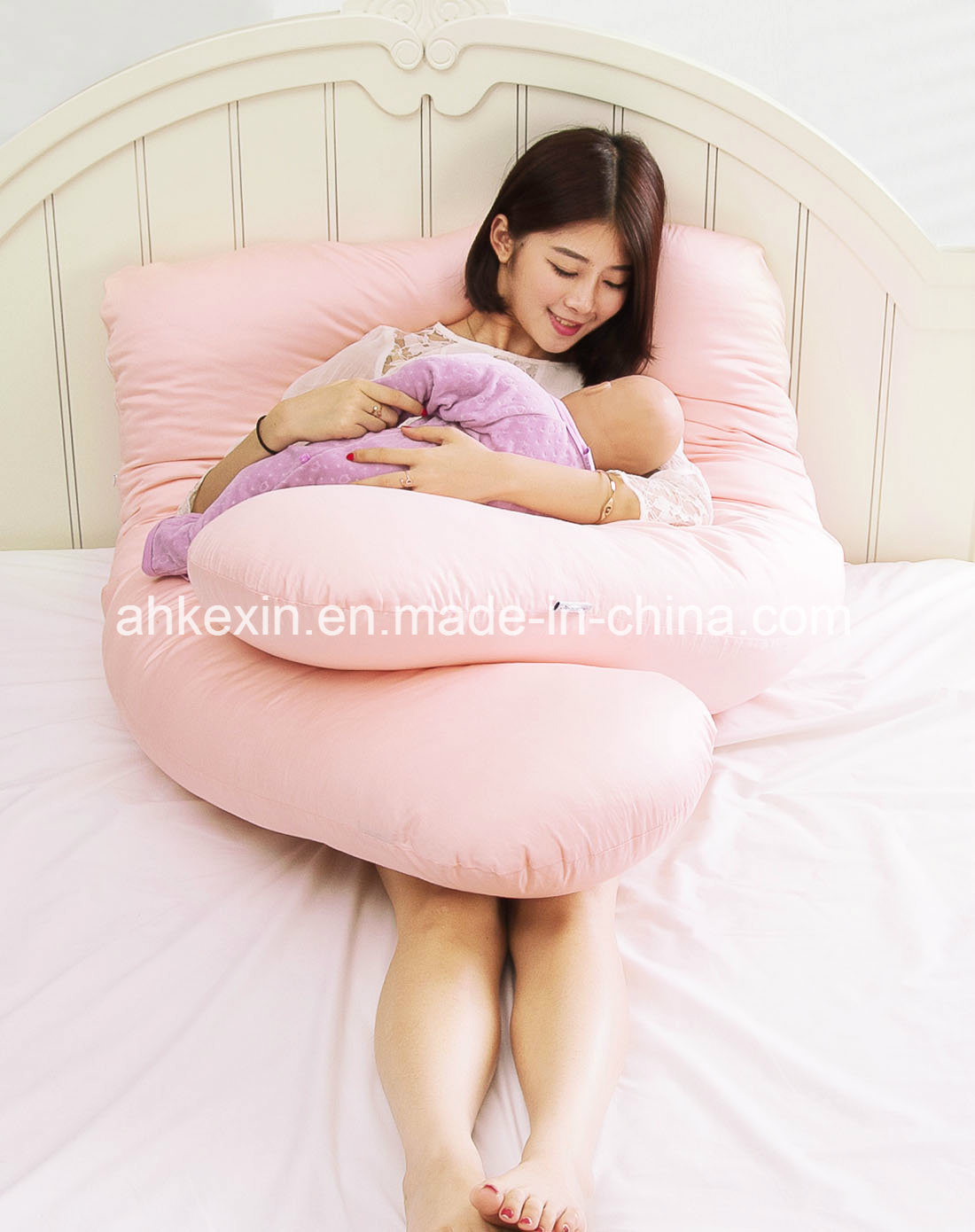U-Type Shape Pregnancy Pillow with Cotton Fabric pictures & photos