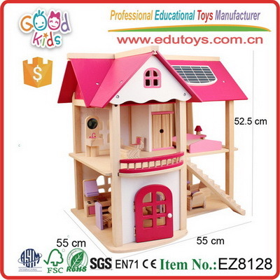 Wooden Miniature Dollhouse Simulation Furniture Set Kids Educational Toy Gifts
