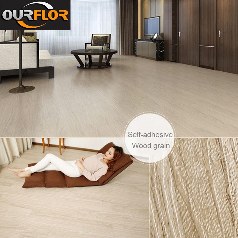 Glue Free And Self Adhesive Pvc Vinyl Flooring Tiles 6 X36 2mm