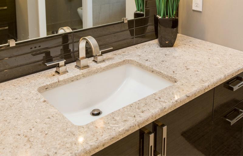 China Beige Prefab Quartz Stone Bathroom Set Bathroom Countertop Photos Pictures Made In China Com