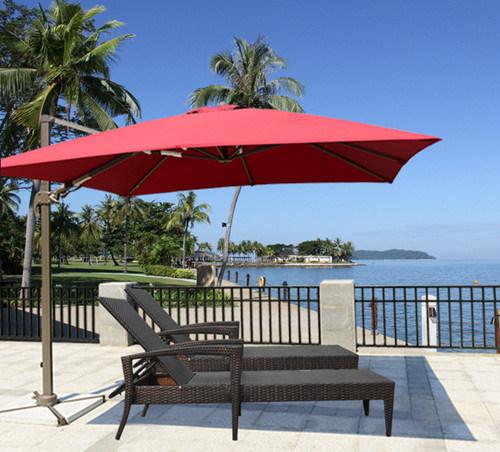 Ordinaire Top Quality Cheap Price Red Color Parasol 8 Steel Ribs Outdoor Garden  Umbrella