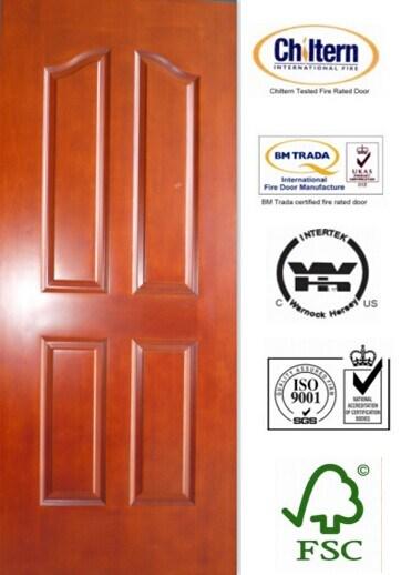 China Solid Door/Solid Wooden Door /Natural Wood with 4 Panel Design ...