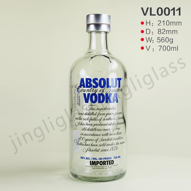 [Hot Item] 700ml Transparent Absolut Vodka Bottle with Original Cap