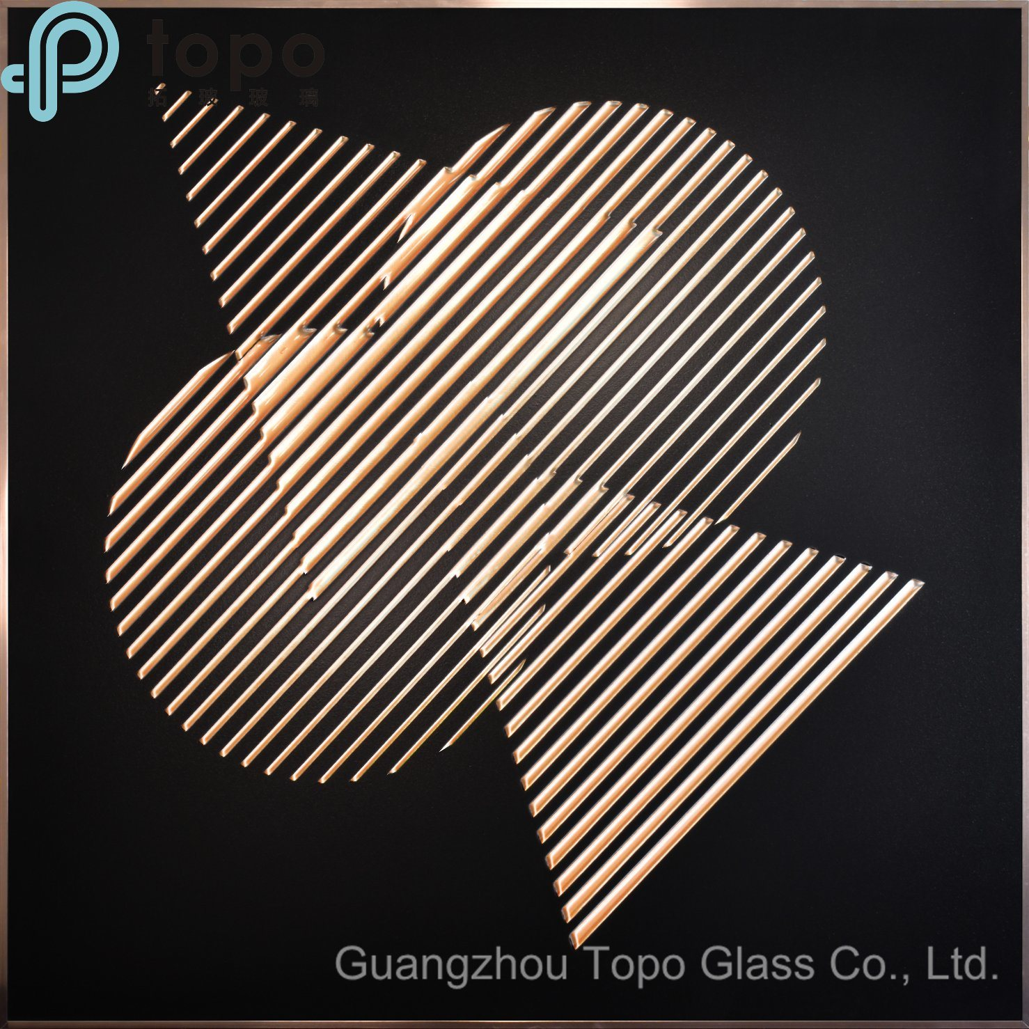 [Hot Item] Triangle and Circle Image Glass Painting (MR-YB6-2044B)