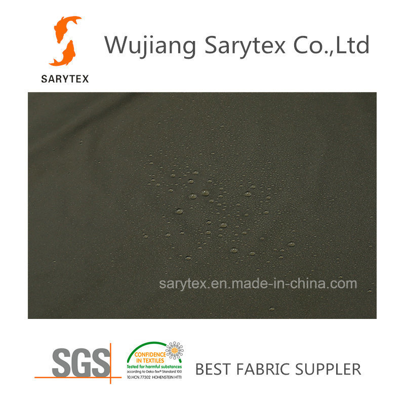 C385.735 Downproof Fabric with PU Coat for Down Jacket
