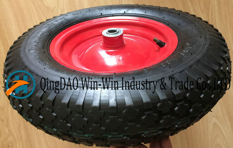 4.00-8 /400-8 Pneumatic Rubber Wheel with Steel Rim pictures & photos