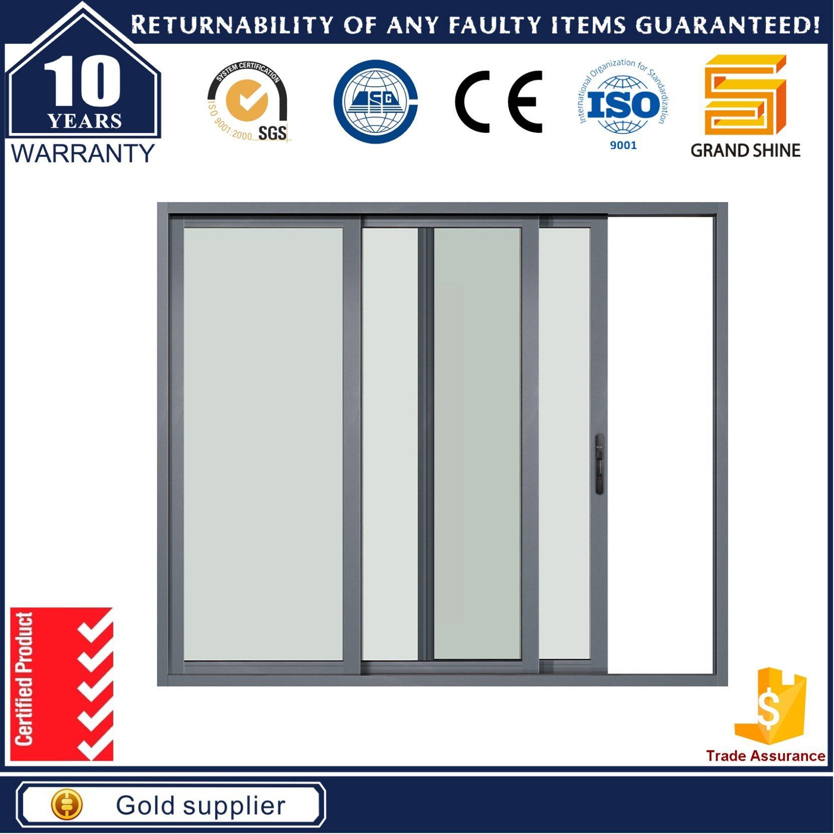 China Hot Sale Sliding Glass Door System With Aluminium Frame