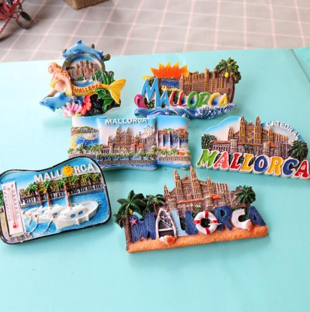 Resin material Make 3D Tourist Spain Country Souvenir Fridge Magnets