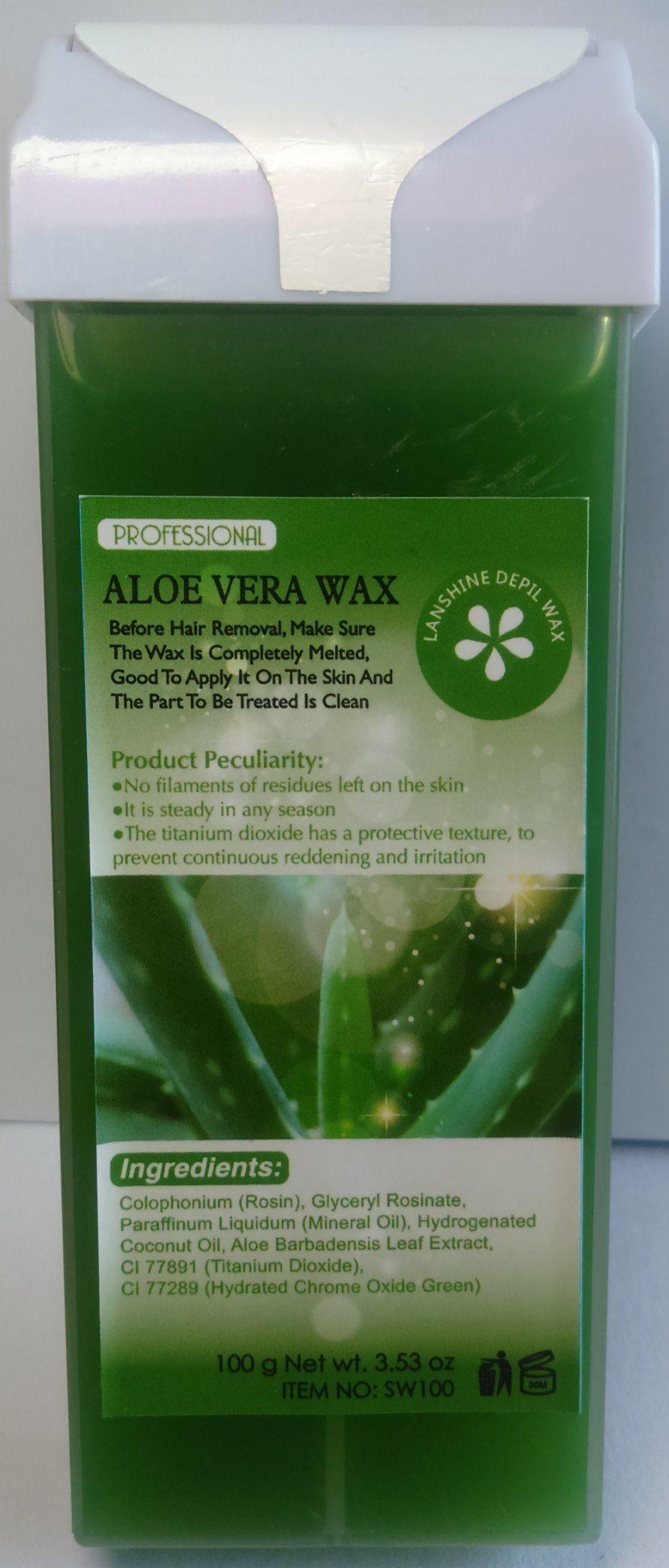 green aloe vera wax