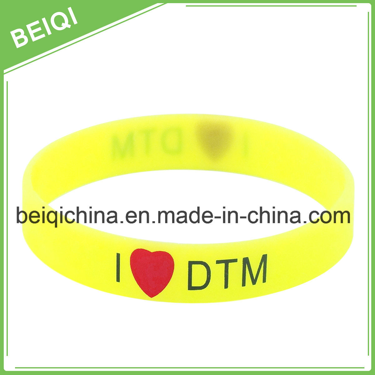 "1/2"" Silicone/Rubber Bracelet for Promotion"
