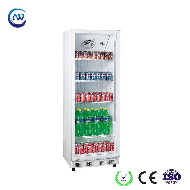 China Upright Single Glass Door Beer Display Cooler Beverage Fridge