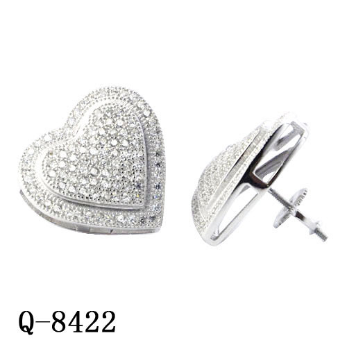 2418fb17f imitation Fashion Hip Hop Jewellery 925 Sterling Silver Diamond Iced out  Heat Stud Earrings for Men
