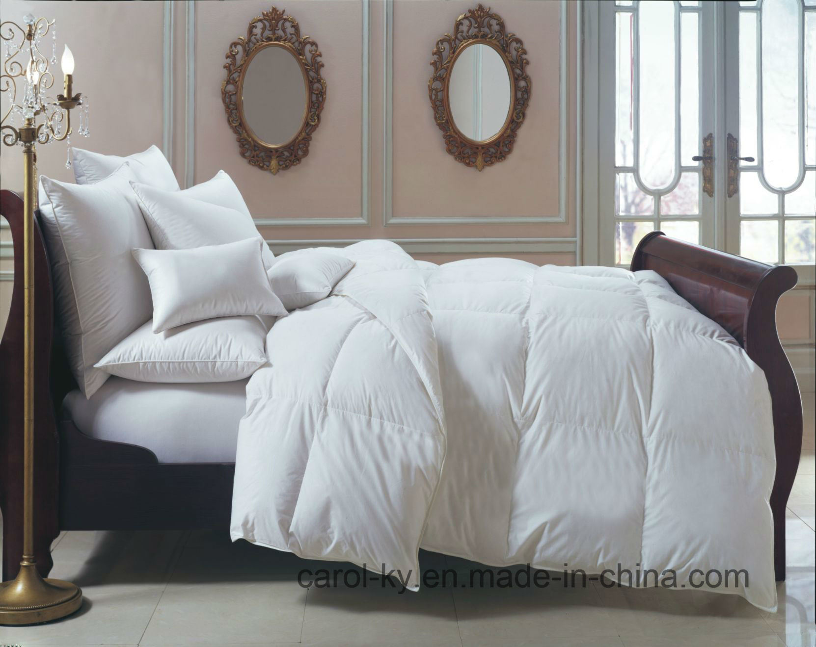 bed top down feather products with duvet parachute