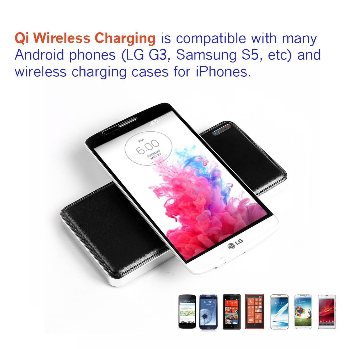 Wireless Charger for Samsung S6/S6 Edge/Nexus/iPhone/HTC Smartphone pictures & photos
