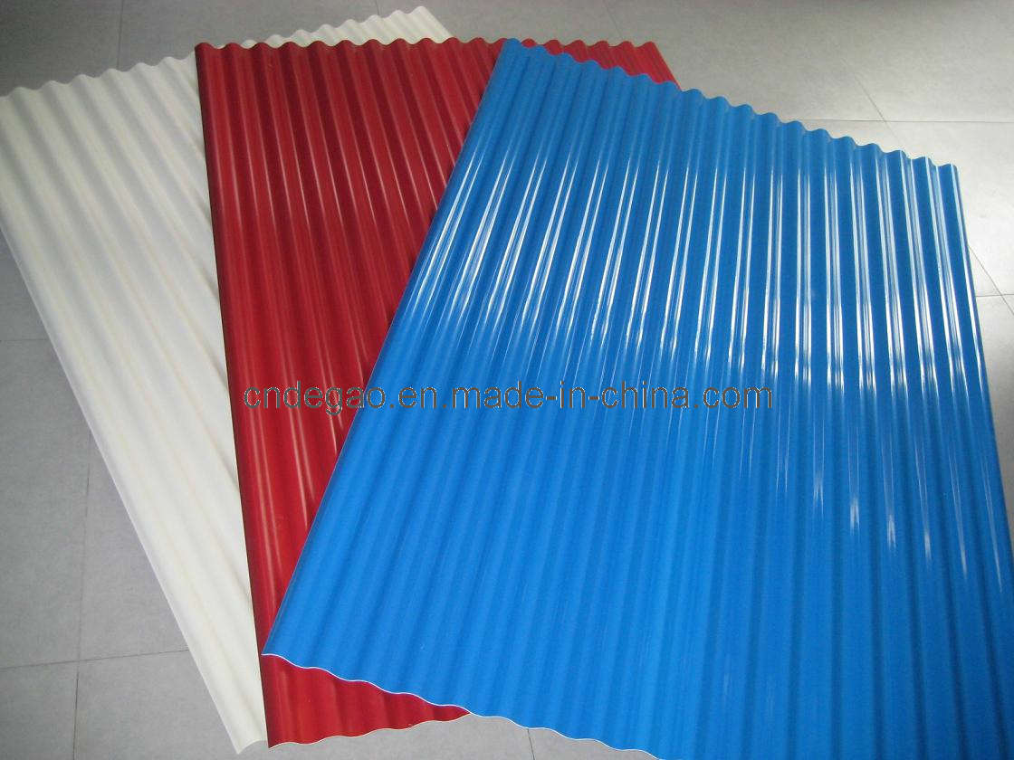 China Colored Corrugated Plastic Roof Tiles Pvc Tile