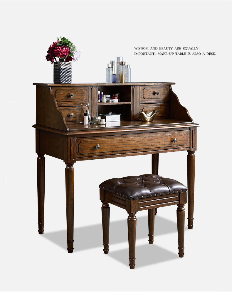 China Vintage Solid Wood Marble Top Writing Desk Hotel Bedroom Furniture China Restaurant Furniture Divansoffor Furniture
