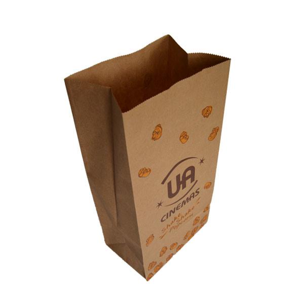 Plain Food Grade Brown Paper Kraft Bags