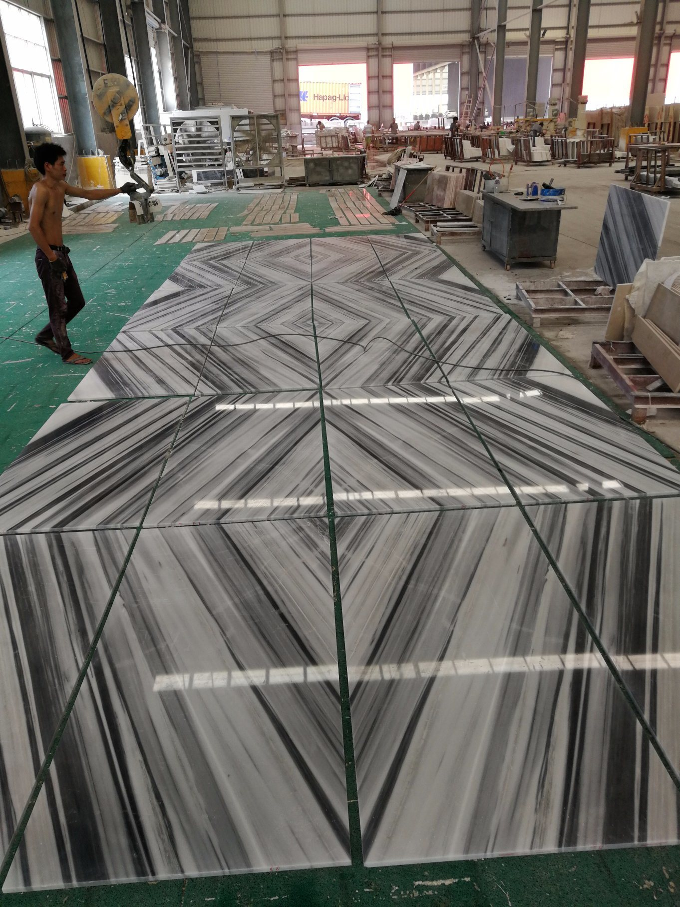China Marble Factory Floor Design Marmara White Pattern 3d Marble