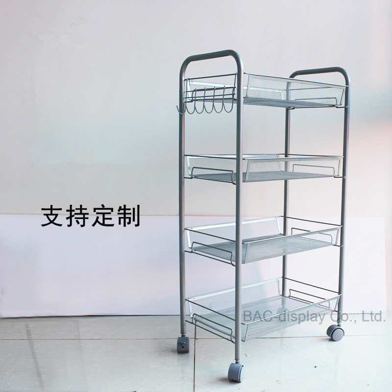 China Mobile Metal Wire Basket Retail Display Shelf Rack Photos ...