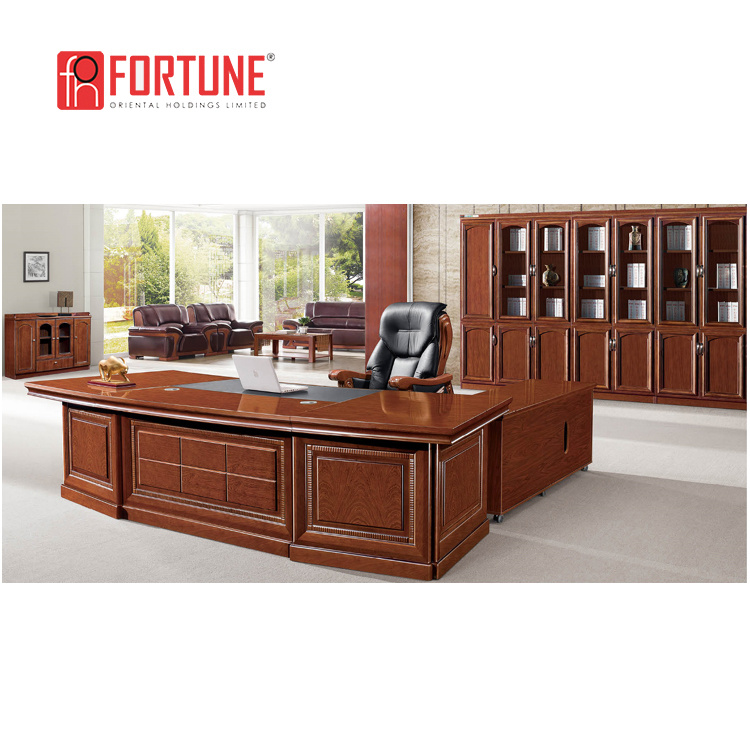 Luxury Design Walnut Large Office Desk